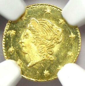 1873 Liberty California Gold Half Dollar 50C BG-1012 R5+ - Certified NGC MS67 PL