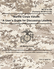 452 Page USMC Marine Corps Values: A User's Guide for Discussion Leaders on CD