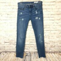 BLANK NYC Skinny Classique Distressed Blue Jeans Womens Size 27