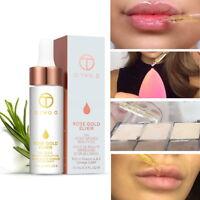 O.TWO.O 24k Rose Gold Elixir Skin Make Up Essential Oil For Lip Before Primer