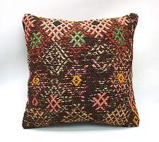 "Kilim Square Pillow, 16""x16"", Accent Pillow, Throw Pillow, Decorative Pillow"
