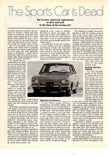 1968 FORD CORTINA GT  ~  ORIGINAL 2-PAGE ROAD TEST / ARTICLE / AD