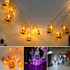 FT- 3m 20LEDs Pumpkin Ghost Flexible Copper Wire Fairy String Lights Decor Strik