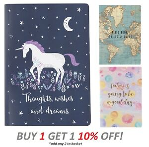 2019 Sass and Belle Notebook Book Pad Plain Journal Jotter Diary Sketch