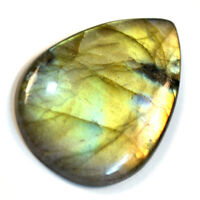 Cts. 29.05 Natural Full Fire Labradorite Cabochon Pear Cab Loose Gemstone