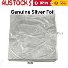 10X Edible Pure Silver Leaf Food Grade Silver Foil Sheets For Cake Decor 11*11CM