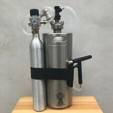 Mini Keg 4L Steel Growler Pluto Beer Gun Corny Ball Lock & Sodastream Regulator