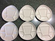 Set 6 Vtg Pottery Fondue Sushi plates Invento USA NY New York