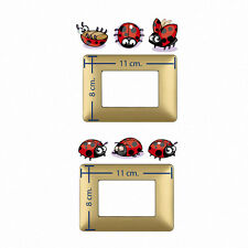 Adesivi murali coccinelle stickers ladybugs wall decal light switch 6 pz.