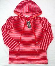 NWT Juicy Couture New Genuine Ladies Small Red Cotton Pullover Hoodie UK 8 - 10