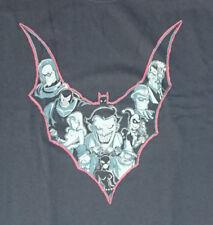 Batman bat symbol full of Batmans rogues villains T-shirt size mens 2XL