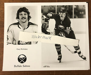 Vintage Buffalo Sabres Team Issued Photo Gary McAdam Buffalo Memorial AUD