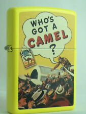 CAMEL ZIPPO LIGHTER WHO'S GOT A CAMEL YELLOW AIRPLANE  CZ #  XXX