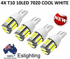4X WHITE T10 7020 SMD 10 LED W5W WEDGE TAIL SIDE CAR LIGHTS TURN PARKER BULB