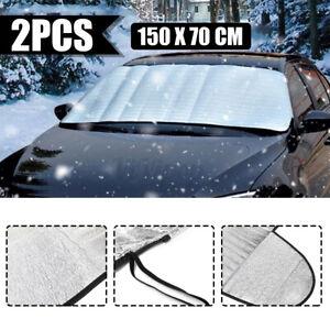 2X Car Windshield Snow Rain Sun Cover Winter Ice Frost Guard Sunshade Protector