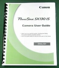 Canon PowerShot SX130 IS Instruction Manual: 180 Pages & Protective Covers