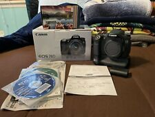 Canon EOS 70D Body With Original Box, Battery Grip with Original Box, Battery