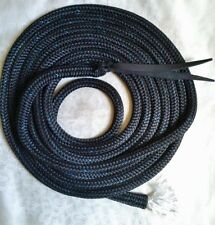 22ft Mecate Rein - Horseman's Reins - Black Professional Rope - 12.5mm thickness