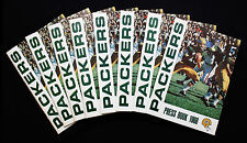 1966 Green Bay Packers Press Book/Media Guide.  Lot of 8.  NM-MT Condition!