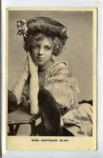 (Lp035-376) RP of Actress Miss Gertrude Glyn, 1907, Used G,