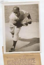 Original 1954 Bob Lemon Wins Wire Photo