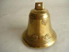 Campana Campanello in ottone lucido da usare vari modi 11,5 cm