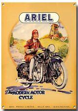 L A3 Größe Ariel Motorrad Enamelled Metall Schild,Klassisch,Vintage,Liebhaber