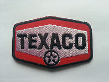 MOTORSPORTS RACING TYRE SEW ON / IRON ON PATCH:- TEXACO FUELS (b) RED BLOCK