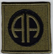 U.S. ARMY 82nd AIRBORNE DIVISION  SUBDUED PATCH