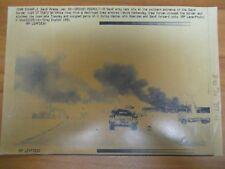 Vintage Wire Photo 1991 Persian Gulf War Saudi Army Tank Southern Border