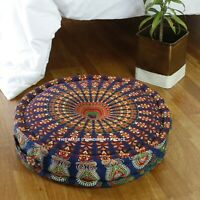 Mandala Print Living Room Pouffe Stool Sofa Ottoman FootStool Bedroom Chairs 20""