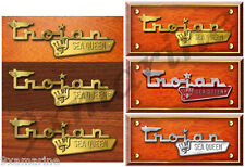 Trojan Boat Name Plate Early 70s Cabin Cruisers