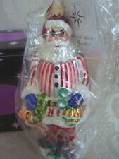RADKO 2000 RING IN THE HOLIDAY JR QVC EXCLUSIVE SANTA  ORNAMENT *MINT IN BOX*