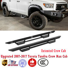 2PCS Fit 07-18 Toyota Tundra Double Crew Max Cab Side Step Bar Running Boards
