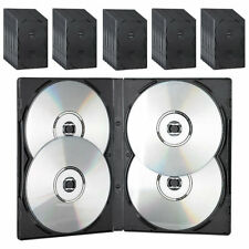 PEARL CD/DVD Soft Hülle für 4 DVDs 50er-Set schwarz