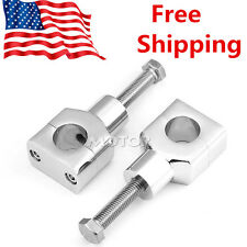 "Shorty Chrome 1"" Handlebar Riser Clamp Fit Harley Custom Springer Bobber Chopper"