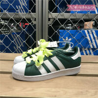 ADIDAS SUPERSTAR MEN'S GREEN/WHITE LEATHER CASUAL SNEAKER BD7419