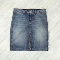 7 For All Mankind Split Pencil Denim Jean Skirt Womens Sz 28 (30 x 20) 7FAM