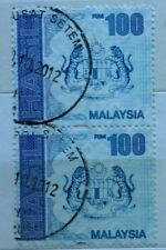 Malaysia Used Revenue Stamps - 2 pcs RM100 Stamp (New Design)