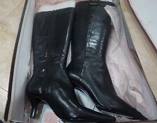 Bandolino Leather Fashion Boots Black New in Box Size 6     c1