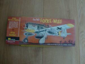 L184 Monogram Model Kit  - Fw 190 Focke Wulf - 1/4 inch Scale - Part Assembled