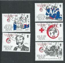 Francobolli europei usato, con soggetto la croce rossa