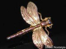 PRETTY VINTAGE DETAILED DRAGONFLY INSECT BROOCH