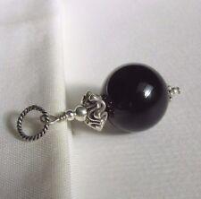 grosser Onyx Ketten-Anhänger * fantastische Zier Perle * 925 Silber schwarz NEU