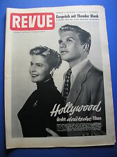 REVUE Nº 15/1953 * Magazine * Marilyne Monroe * Hardy Krüger * La Begum * Noblesse *