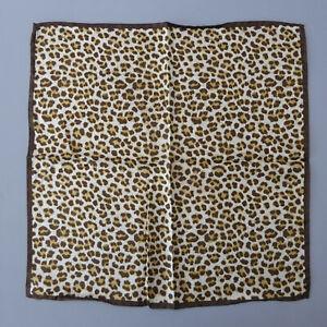 Renard Seidentuch Tuch Tier Print Leoparden Muster 43 x 43cm