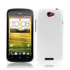 Case f HTC One S Hardcase Schutzhülle Schale Tasche Cover Weiss matt white