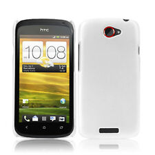 Case f HTC One S Funda Estuche duro bolsa cáscara cover blanco mate White