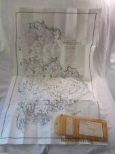 "Folded Vintage Map of Washington County Maine (1976) 23"" X 36"" Prentiss Company"
