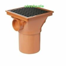 Underground 110mm Square Hopper with Spigot And Grid Underground  Pipe Fittings
